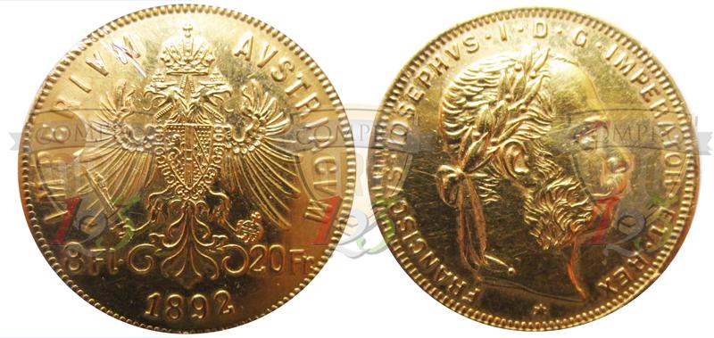 8 fiorini 20 franchi marengo 190 - Sterlina oro 2017 fondo specchio ...
